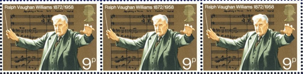 Postal stamps showing Ralph Vaughan Williams